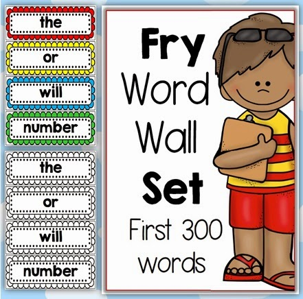 Fry Word Wall Set First 300 Words Bundled