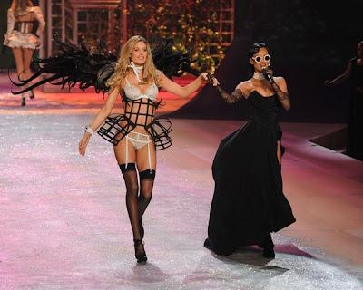 Doutzen Kroes and Rihanna At Victoria's Secret Fashion Show 2012