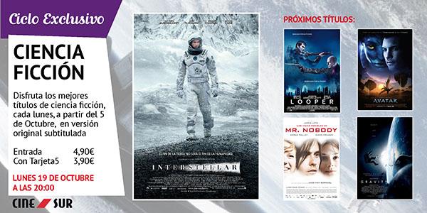 """Entrada doble """"Interstellar"""".  19 de Octubre en Sevilla a las 20:00 (Ciclo Ciencia Ficción CineSur)"""