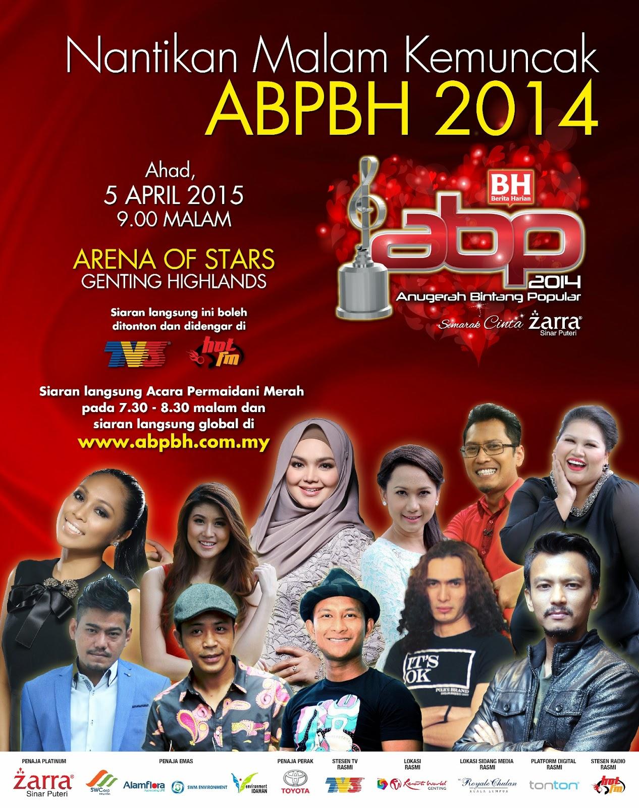Anugerah Bintang Popular Berita Harian (ABPBH)2014