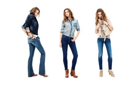 jeans localizados chupines oxford azul