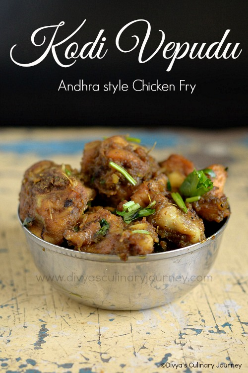 kodi vepudu recipe | andhra style chicken fry recipe