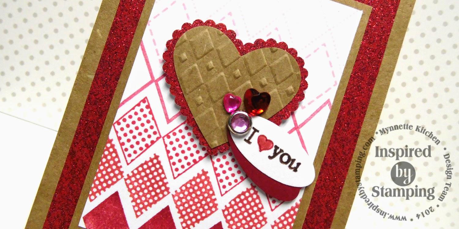 Inspired by Stamping, Mynnette Kitchen, Diamonds stamp set, Teeny Tiny Greetings stamp set, I love you card, love card