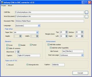 Softany CHM to DOC Converter v2.6