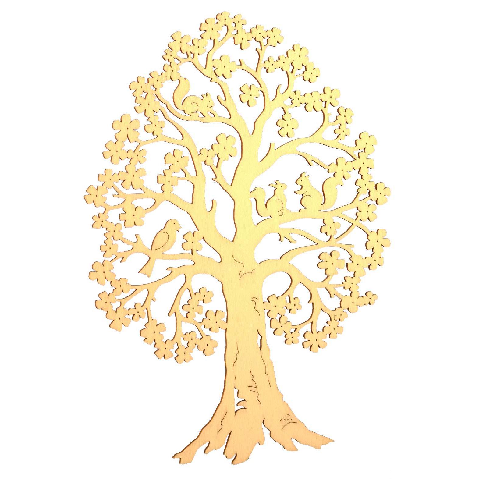 Nieuwe houten decoratie van finkbeiner for Houten decoratie boom