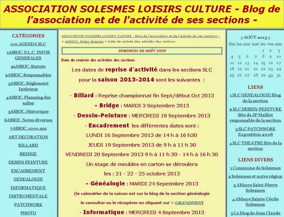 Blog général SLC