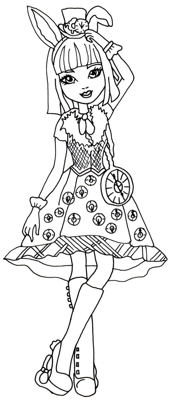 Free Printable Ever After High Coloring Pages Bunny Blanc High Color Page 2