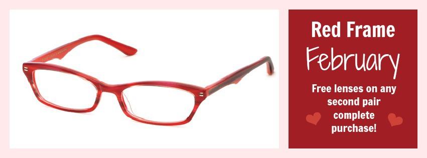 Sweet Deal: Red Frame February | Eye2Eye Optometry Corner