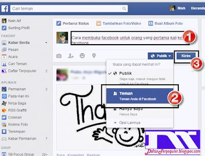 cara membuka facebook khusus pemula