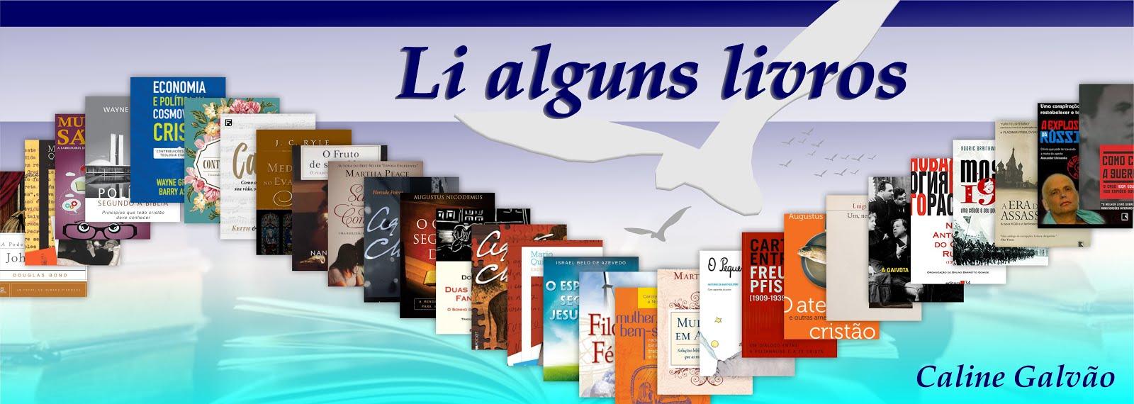 Li alguns livros