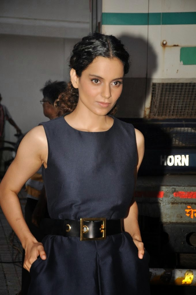 Kangana Ranaut on the sets of Anupama Chopra's new show