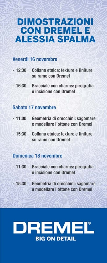 Dimostrazioni fiera Beads and Tricks e Dremel
