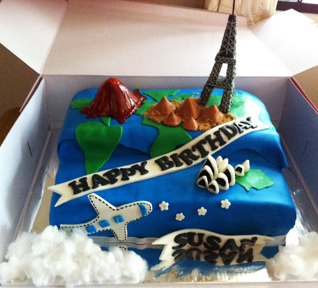 Daphne Made Her Own Birthday Cake Too: Sherbakes: Travel Cake With Famous Landmarks