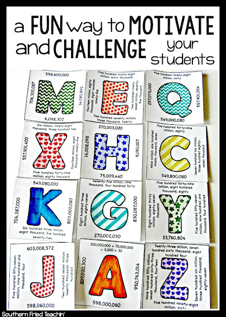 Want to motivate your students to practice math skills in a fun and challenging way?  These are NO PREP and can be used over and over!