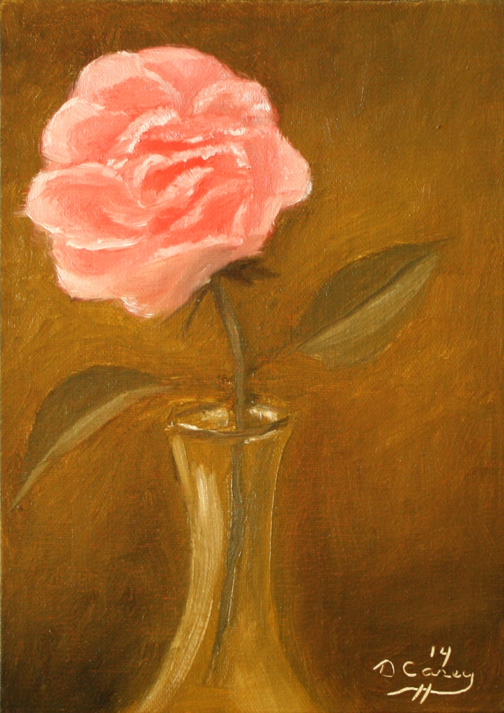 140915 - Rose in a Vase 003a 7x5 oil on linen panel - Dave Casey - TheDailyPainter.jpg