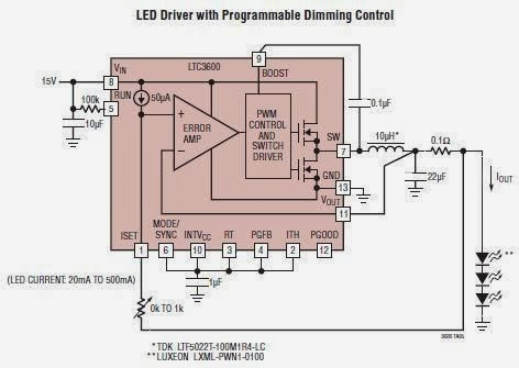 LED Driver Using LTC3600 Circuit Diagram