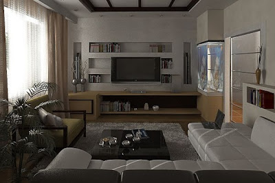 foto sala masculina elegante