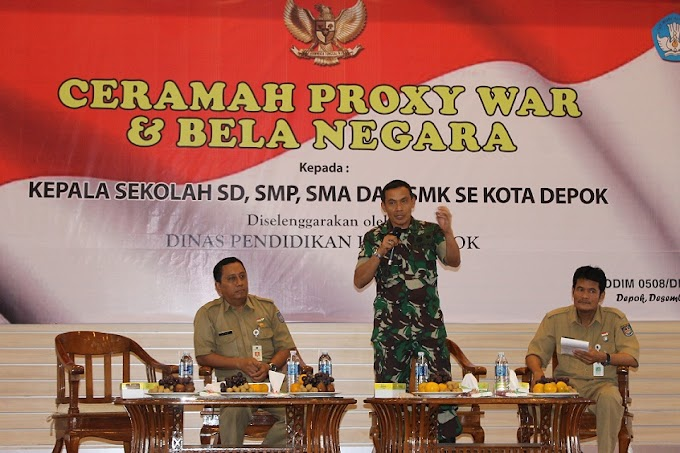 Dandim 0508/Depok Sosialisasikan Proxy War dan Bela Negara
