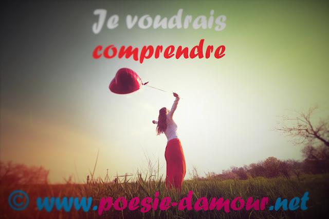 Belle femme avec le ballon rouge sur le site : Poésie d'amour