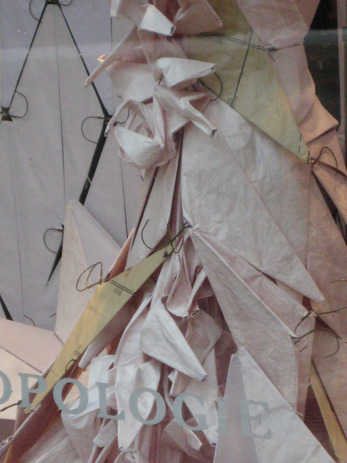 with paper, hangers @ The Anthropologie on the Plaza, Kansas City ...