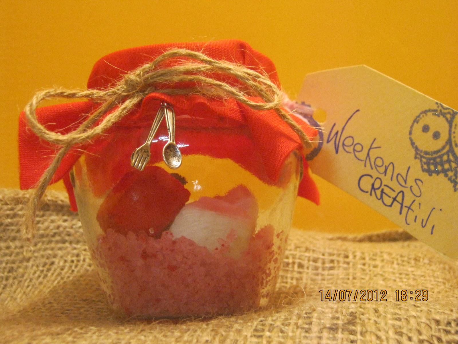 Ricetta Sali Da Bagno Profumati : Week ends creativi vasetti con gessi e sali profumati