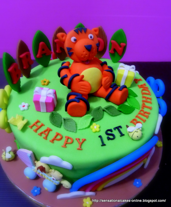 The Sensational Cakes: Tiger Theme Birthday Cake / 1st