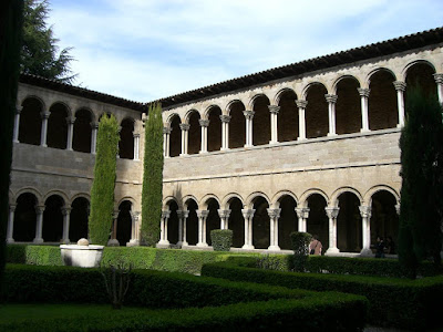 Cloister of Ripoll Monastery in Catalonia