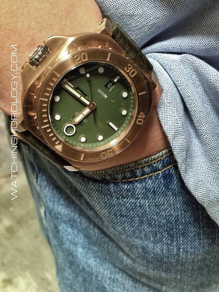 Movas starts delivery of its bronze diver iv - Bronze dive watch ...