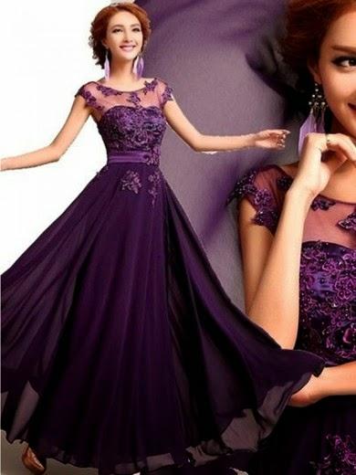 A-Line Princess Scoop Applique Chiffon Floor-Length Sleeveless Dresses