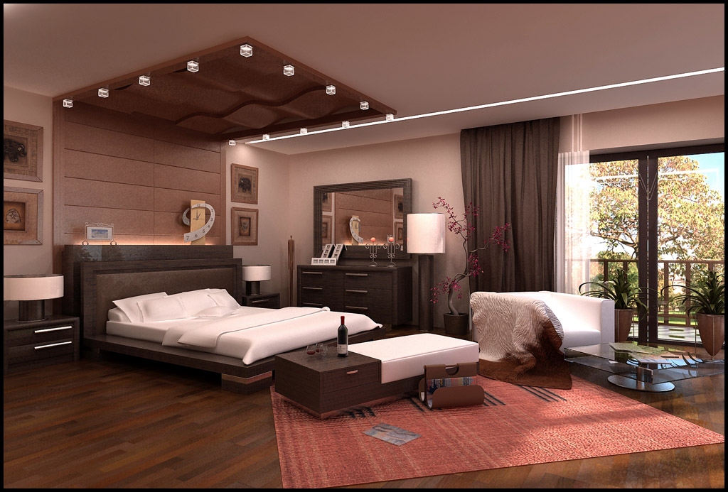 Fancy light ceiling bedroom for Bedroom designs light