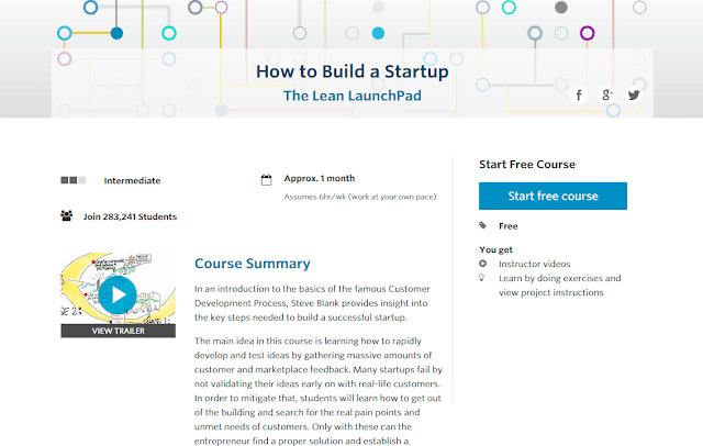 Curso online como construir una startup