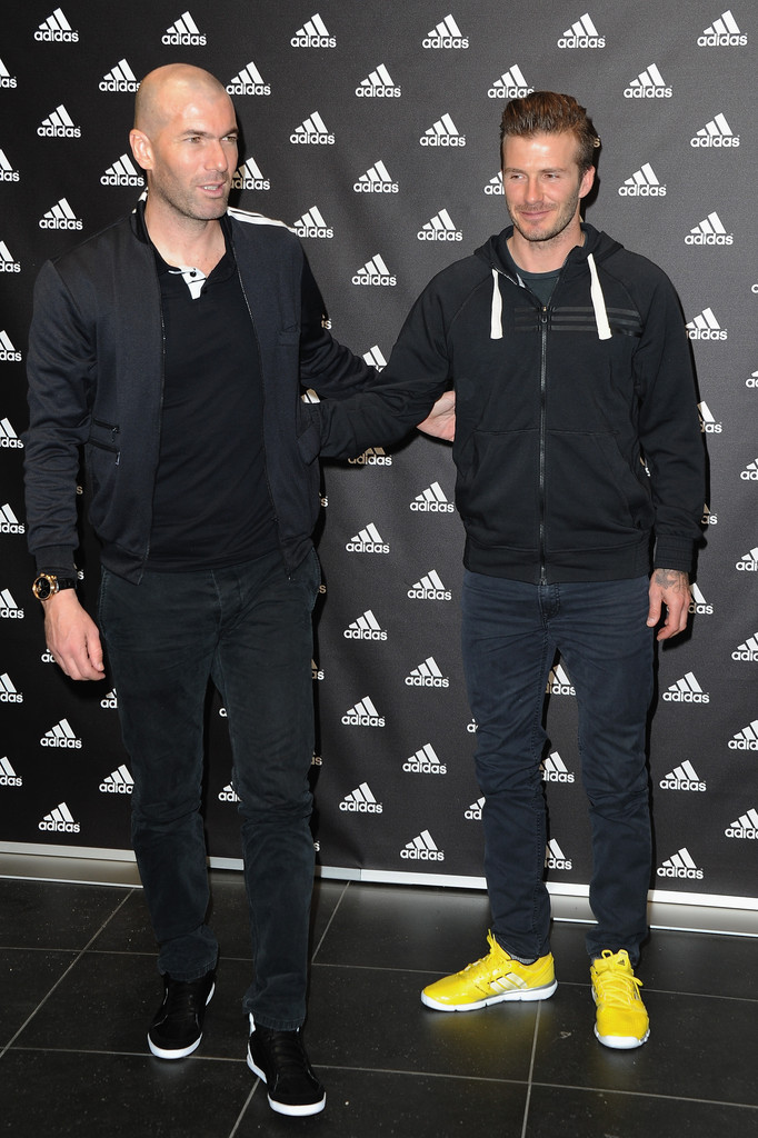 00O00 Menswear Blog Zinedine Zidane's IWC Portuguese Tourbillon Mystere Watch - Adidas store visit with David Beckham Paris February 2013
