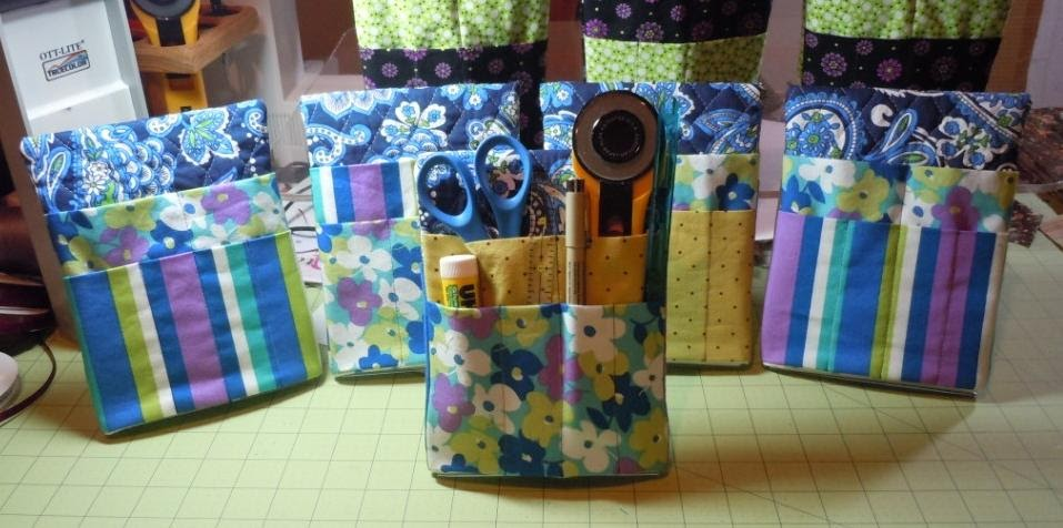 Quilts and Pieces: Quilting Tool Caddy - Batch 2!