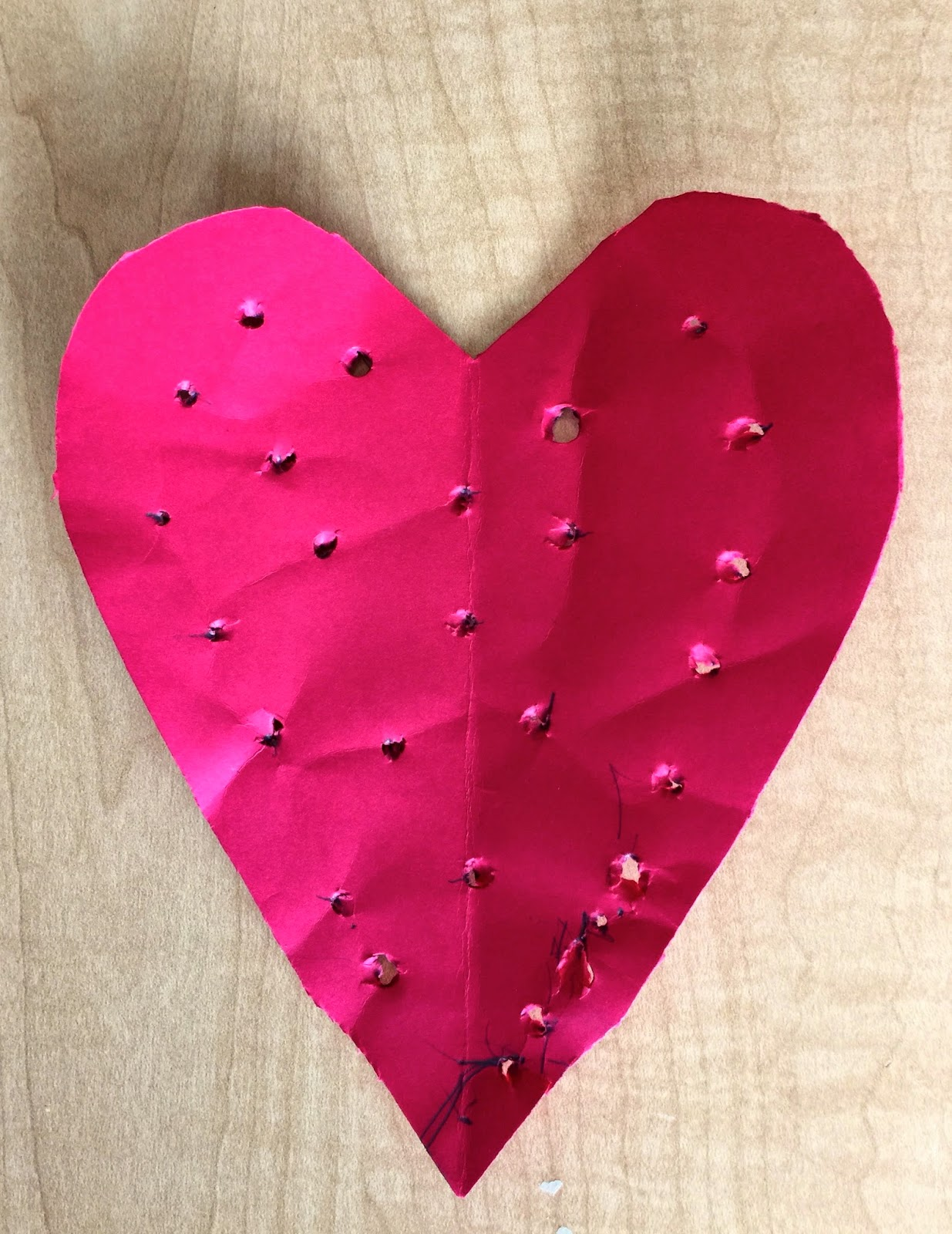 Coffee Filter Heart - Fine Motor Craft