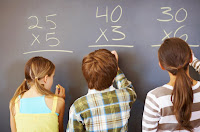 students doing math
