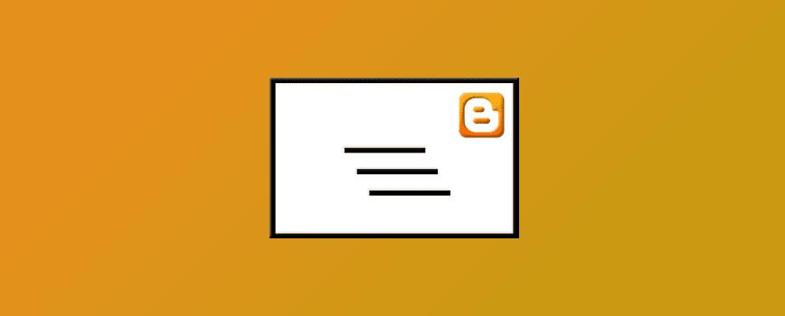 Créer une page contact sur Blogger