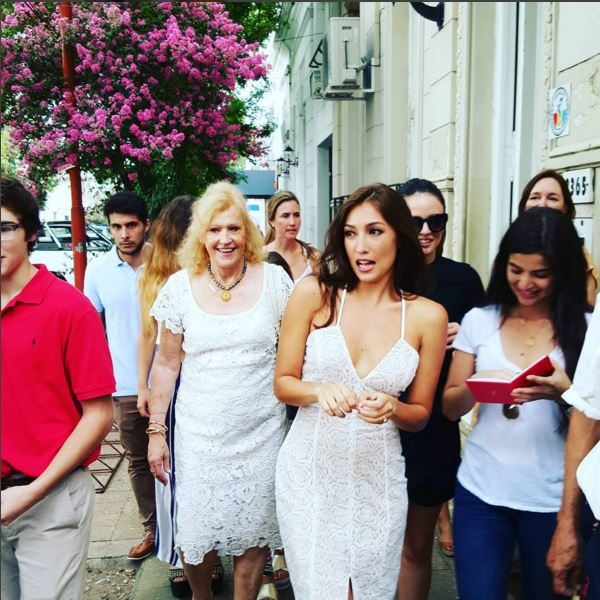 Solenn Heussaff in simple but sexy dress during wedding day in Argentina.