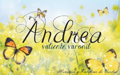 Variaciones: Andrew, Femenino de Andres.