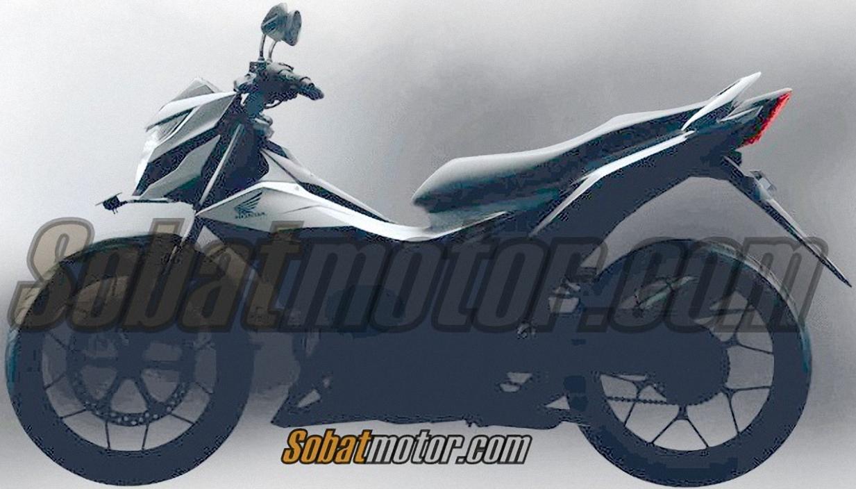 HOT ! Inilah bentuk utuh Honda Sonic 150R dari samping . . .
