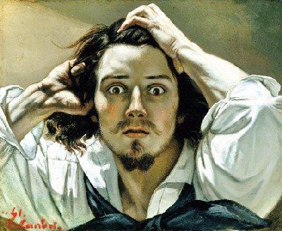 """""""El hombre desesperado"""" · Gustave Courbet"""