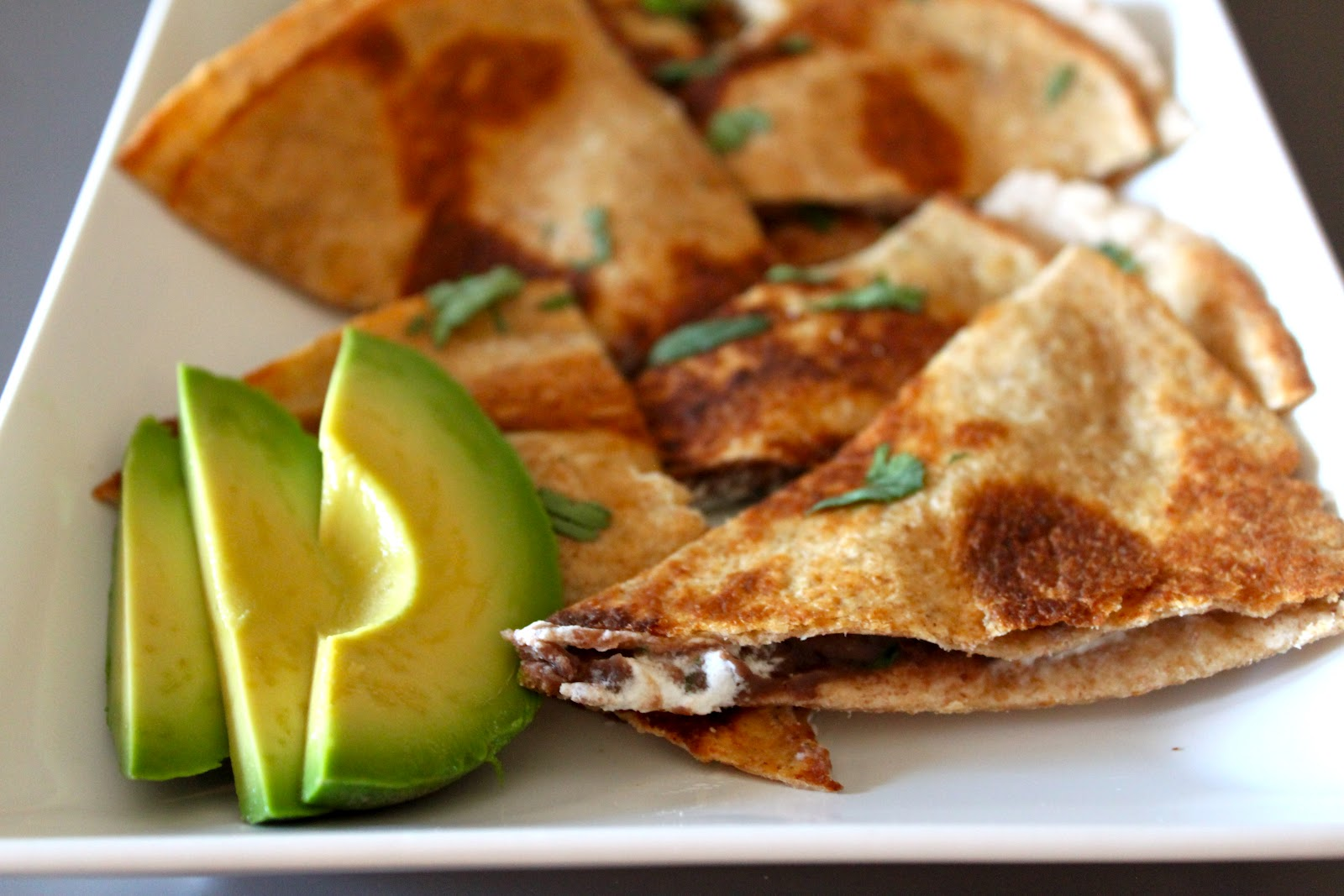 Domestic Charm: Black Bean and Goat Cheese Quesadilla