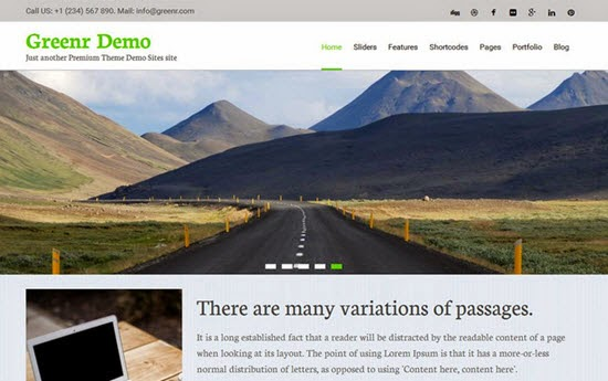 Greenr WordPress Theme