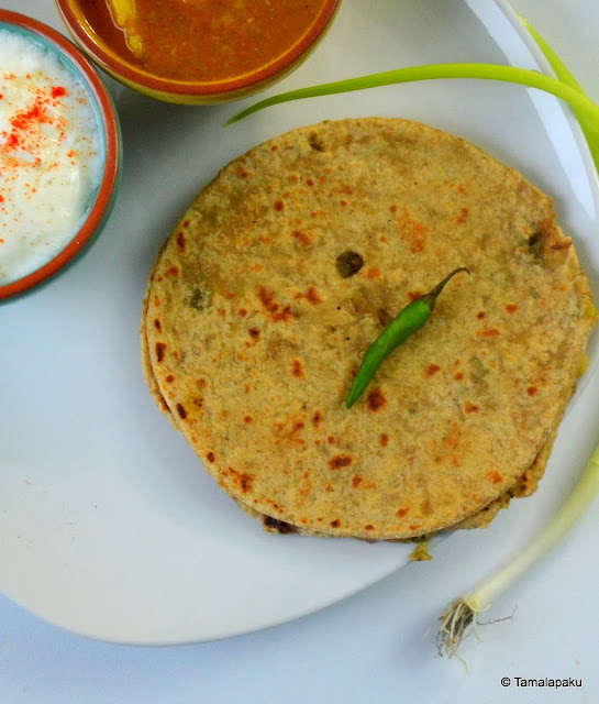 Oats And Spring Onion Paratha