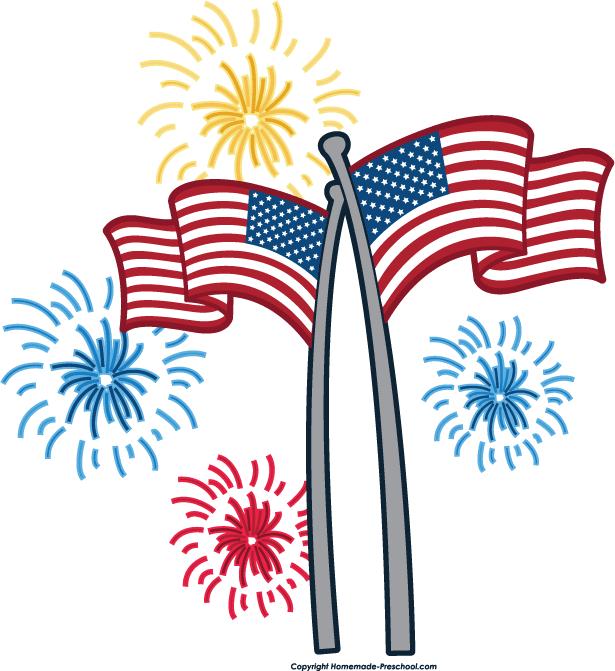 Fireworks Flag