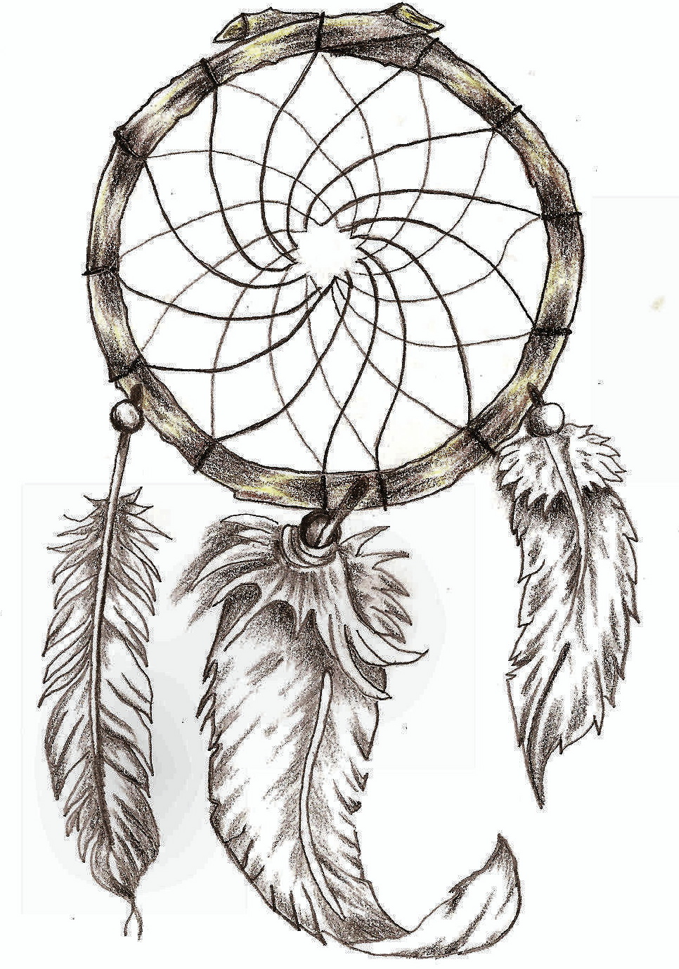 3dis body and time for Dream catcher tattoo template