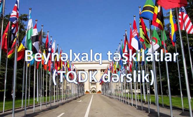 Beynəlxalq təşkilatlar (TQDK dərslik)
