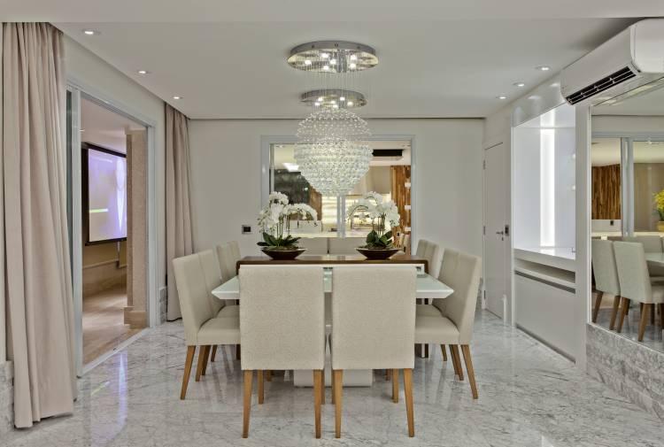 Sala De Jantar Com Aparador Branco