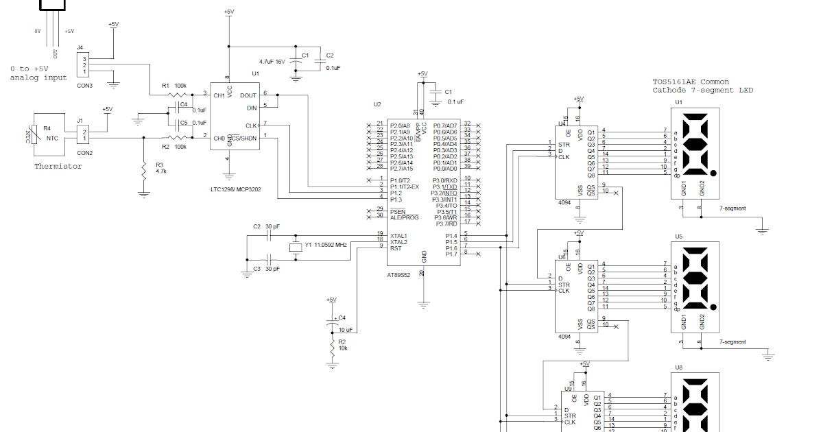 electro zone  rangkaian termometer digital