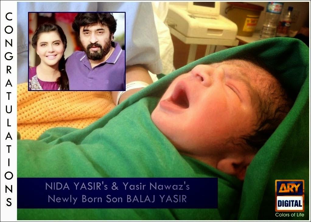Nida Yasir and Yasir Nawaz Are Blaessing Baby Boy Pictures.