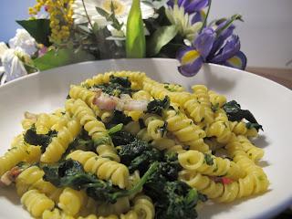 torchietti spinaci e pancetta